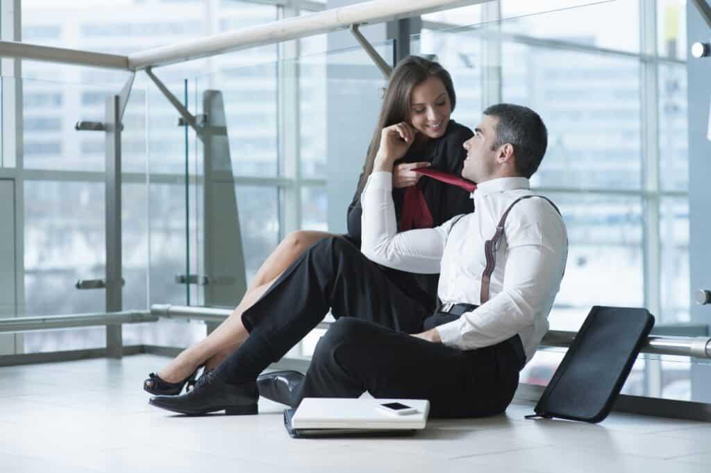 Flirt på kontoret