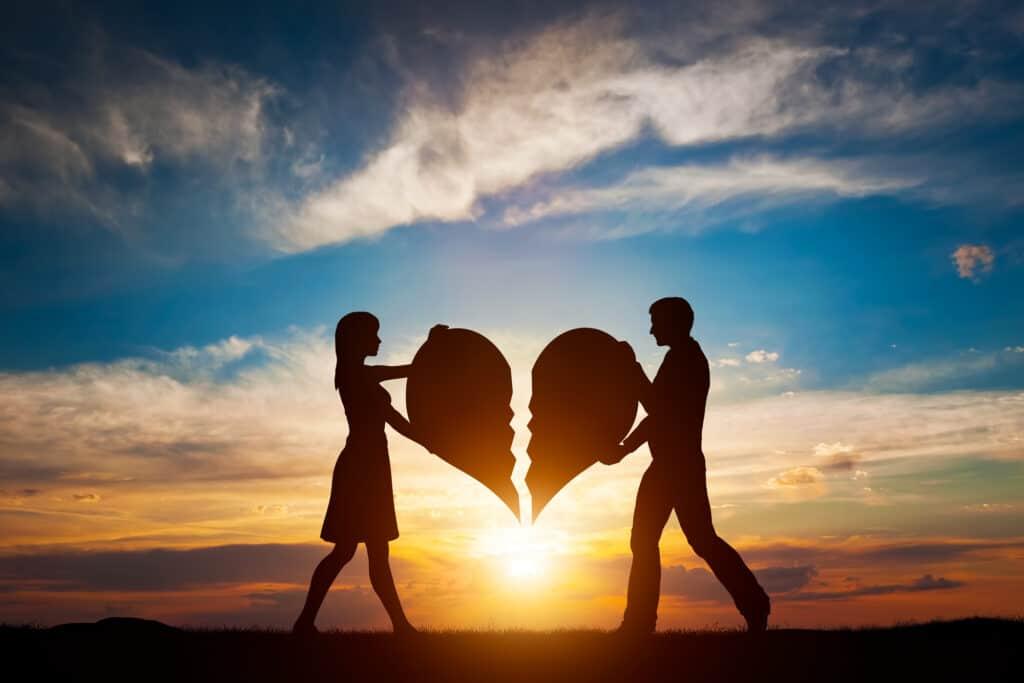Kærestepar med hjerter